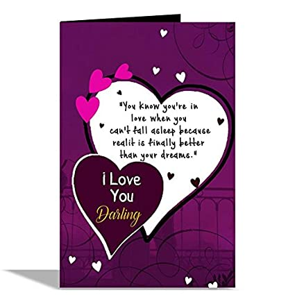 alwaysgift i love you darling greeting card amazon in office products