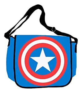 Silver Buffalo MC4701MB Marvel Captain America Shield 15-Inch by 12-Inch Messenger Bag, Multi-Color