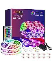 JESLED taśmy LED ze zdalnymi światłami LED do zmiany koloru sypialni SMD5050 Taśmy LED RGB do domowej kuchni sypialnia dekoracja barowa