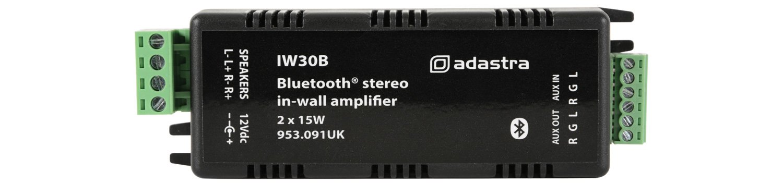Adastra IW30B Amplificador Estéreo Bluetooth en la Pared AVSL 953.091UK