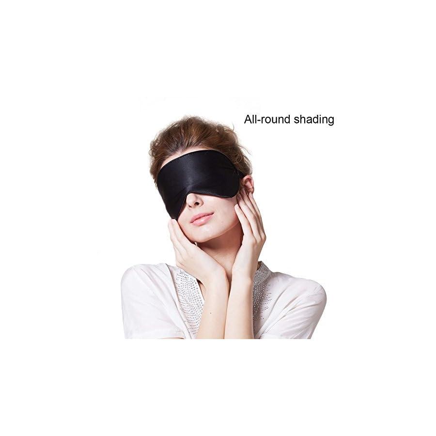 Eye Masks (2 Pack), The KEKU Contoured & Comfortable Sleep Mask,Thickened Comfort & Excellent Elastic Eye Mask with Adjustable Velcro Tape (silk)