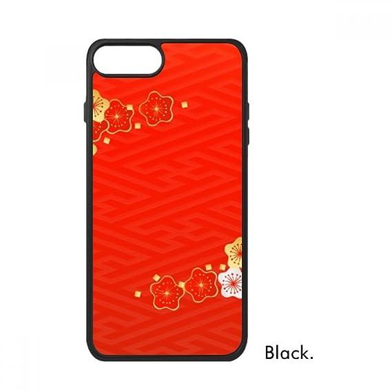 Amazon com: Golden Red Sakura Pattern Japan For iPhone 8/8 Plus