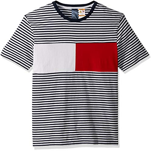 Tommy Hilfiger Adaptive Mens T Shirt with Magnetic Buttons at Shoulders