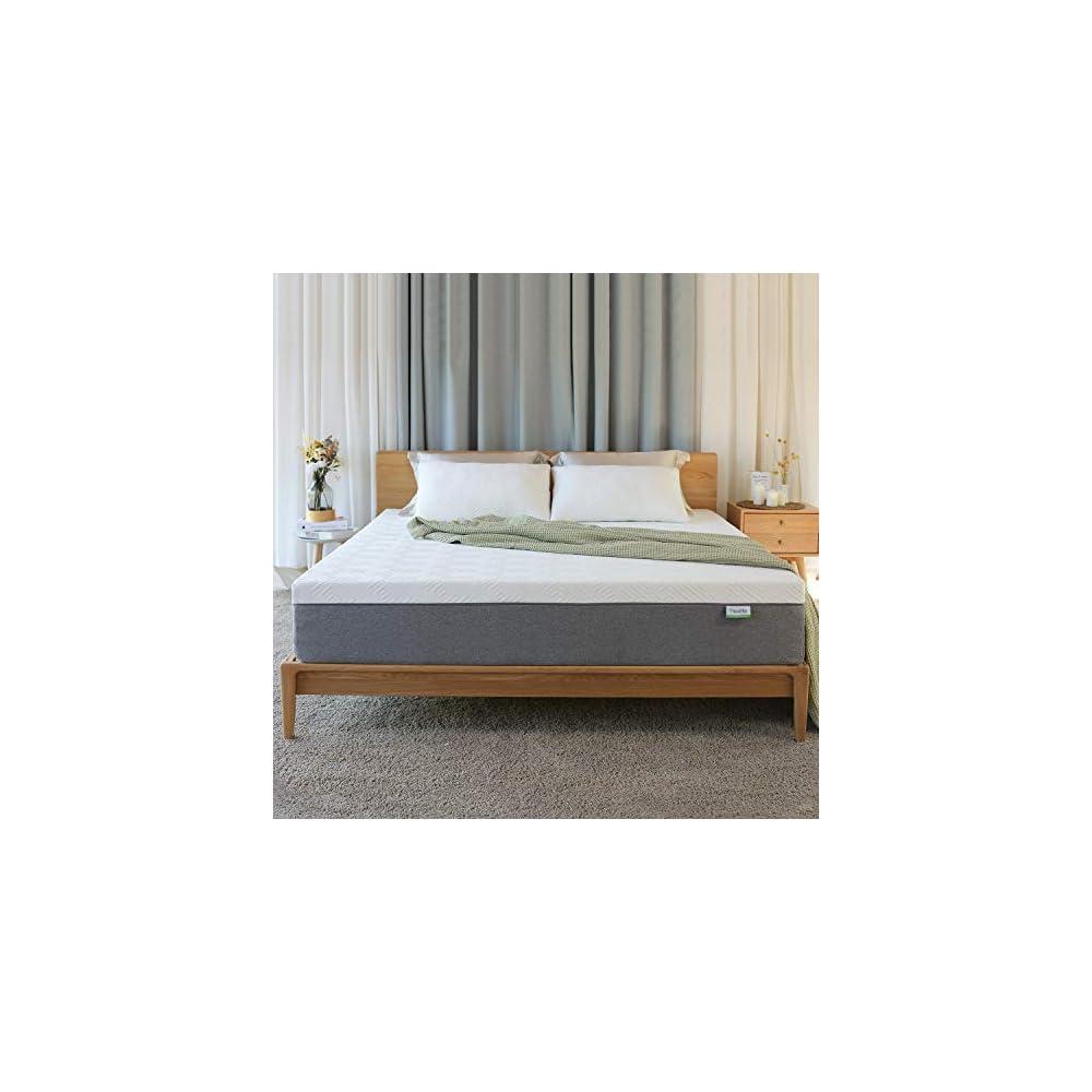 Novilla King Size Mattress, 12 inch Gel Memory Foam King Mattress for a Cool Sleep & Pressure Relief, Medium Firm Feel…