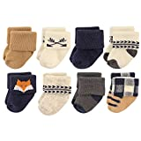 Hudson Baby Basic Socks, 8 Pack, Woodland Creatures, 0-6 Months