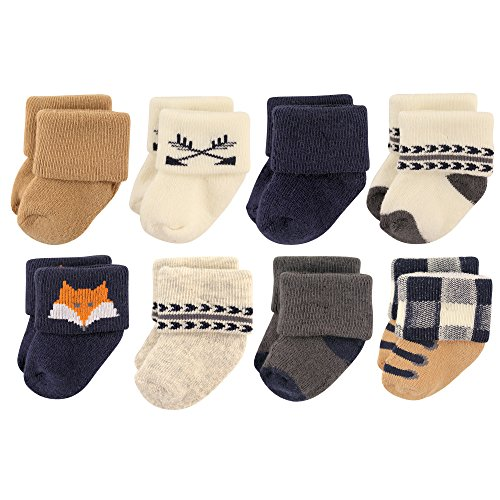 Hudson Baby Basic Socks, 8 Pack, Woodland Creatures, 6-12 Months - Kid Creature Socks