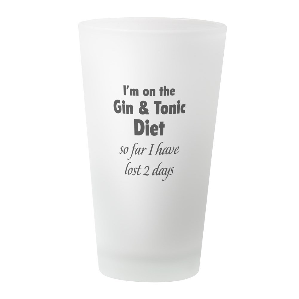 CafePress - Gin & Tonic Diet - Pint Glass, 16 oz. Drinking Glass