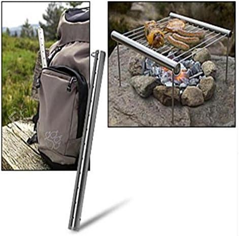 F Fityle Robuster Outdoor Trekking Camp Park Kompakter Mini Taschengrill Für BBQ Silver