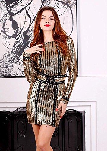Missord -  Vestito  - Sera  - Maniche lunghe  - Donna oro Gold Large