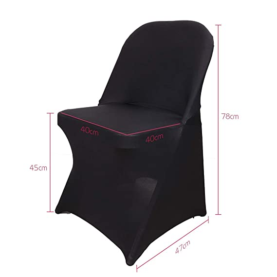 LUVODI - Funda de Silla Plegable, Color Negro, Extensible ...