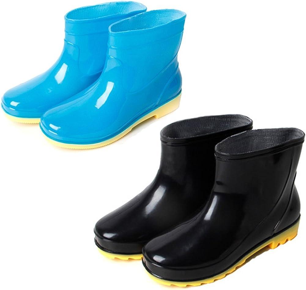Xinwcang Bottes de Pluie pour Homme,Chaussure de Jardinage Waterproof Unisexe Imperm/éables Boots
