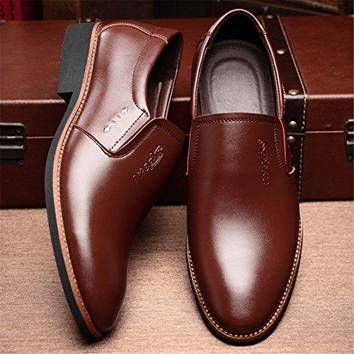 Mocassins Décontractés Classiques Pour Hommes - Mocassins De Conduite Souple Slip On Shoes 9586 Marron