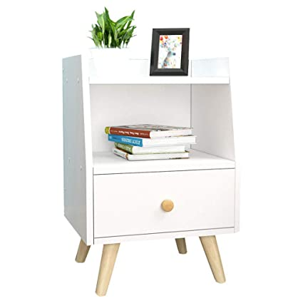separation shoes 6bea7 6ef2c Amazon.com: YR FURNITURE Modern Bedside Table with Drawer ...