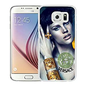 New DIY Custom Design Cover Case For Samsung Galaxy S6 VERSACE 1 White Phone Case