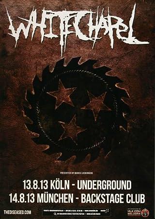 amazon com whitechapel make it bleed 2013 concert poster plakat