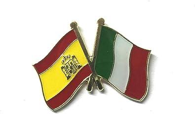 Matfords España – Pin de bandera de la amistad de Italia – UK Company: Amazon.es: Joyería