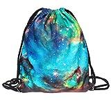 Halloween Non-Woven Drawstring Bag,Gift Candy Bag Bundle Pocket 3D Digital Print Bouquet Pocket Backpack Pouch Bag Simple Sack (B)