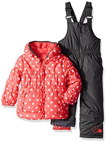 Pink Platinum Baby Girls Sweetheart Print Snowsuit