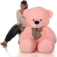 Sellebrations Premium Quality Huggable Teddy Bear with Neck Bow, Plush Stuffed (04 Feet) Pink
