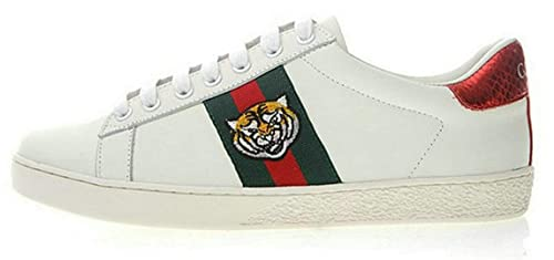 Gucci Ace Embroidered Sneaker Tiger Uomo Donna Scarpa  Amazon.it ... 256e10ad787