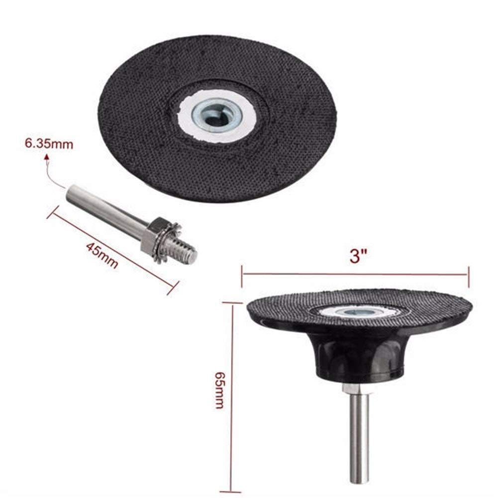 Yadianna Durable With 1//4 Inch Shank For Rotary Tool 3 Inch Sanding Disc Polishing Pad Holder