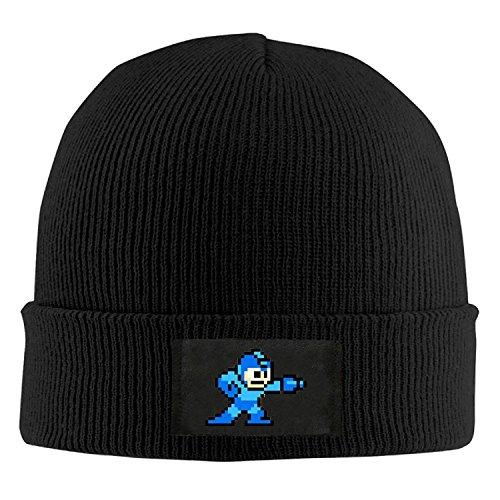 Skull Beanie Caps Mega Man Pixel Video Game Robot Trendy Soft Adult
