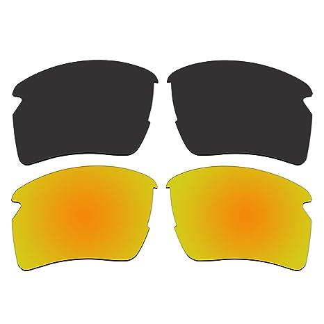 Gafas de sol polarizadas Negro y oro lentes de repuesto para ...