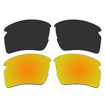 Gafas de sol polarizadas Negro y oro lentes de repuesto para Oakley Flak 2.0 XL