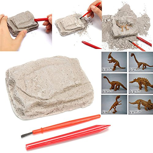 Dinosaur Excavation Kit Archaeology Dig Up History Skeleton Fun Kids Toy Gift - Learning & Education Science & Discovery Toys