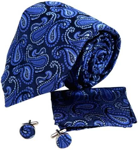 YAC1B01 Multicolored Paisley Presents for Wedding Silk Necktie 3PT By Y&G