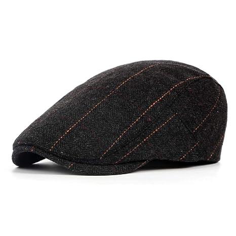 Mens Flat Cap Beret Herringbone Newsboy Bakerboy Hat Gatsby Peaky Blinders