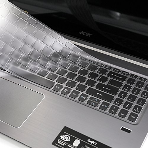 """Folox Ultra Thin Keyboard Protector Cover Skin for 15.6"""" Acer Swift 3 SF315 Full HD Laptop with Numeric Keypad"""