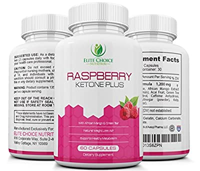 RASPBERRY KETONE PLUS with Green Tea & African Mango Weight Loss Formula for Best Results 1200mg Maximum Strength Blend High Quality Fat Burner & Metabolism Booster for a Leaner & Slimmer Body