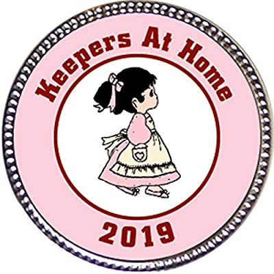 "Keepsake Awards 2020 Keepers at Home Award, 1 inch Dia Silver Pin ""Keepers Annual Awards Collection: Toys & Games"