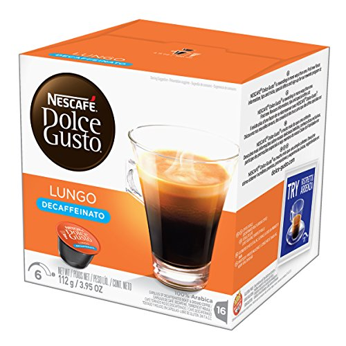 (NESCAFÉ Dolce Gusto Coffee Capsules  Lungo Decaffeinato 48 Single Serve Pods, (Makes 48 Cups) 48 Count)