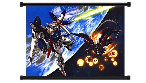 Mobile Suit Gundam Wing Anime Fabric Wall Scroll Poster (32