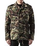 Wiberlux Saint Laurent Men's Love Patch Detail Camouflage Jacket S Olive
