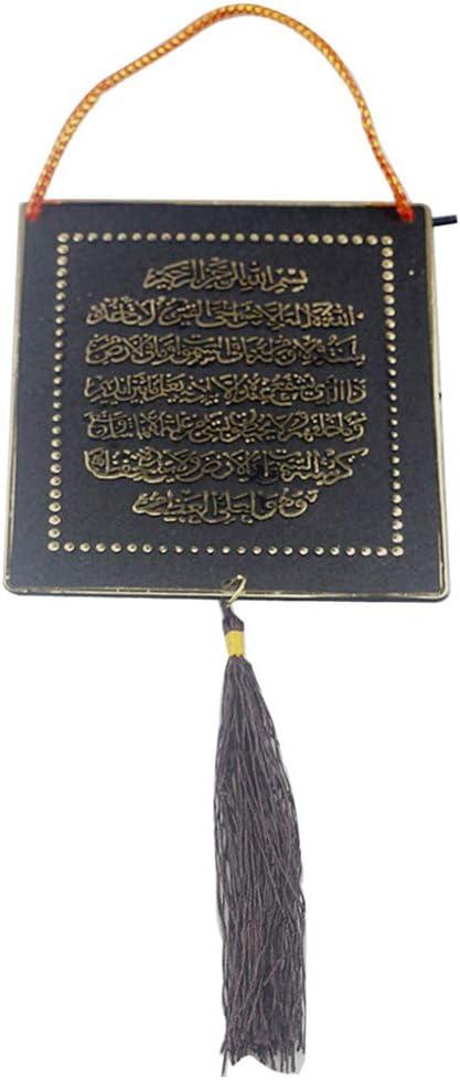 Fesjoy Ramad/án musulm/án isl/ámico Borla rect/ángulo Colgante Festival h-anging Ornamento decoraci/ón del Coche para gurban Eid Mubarak
