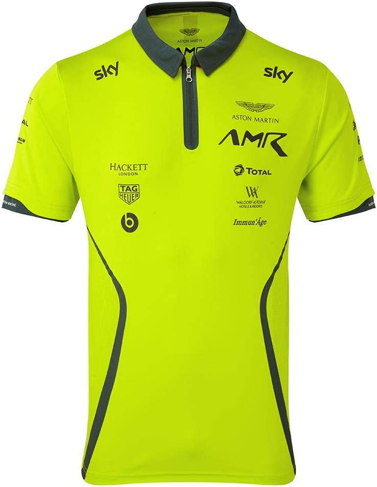 Aston Martin Racing Team Polo 2019 Verde Lima para Adulto: Amazon ...
