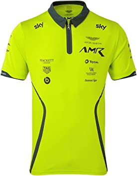 Aston Martin Racing Team Polo 2019 Verde Lima para Adulto, Medium ...