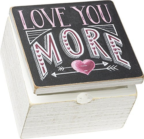 Primitives by Kathy 4 x 4 x 2.75 Decorative Hinged Box - Love You More