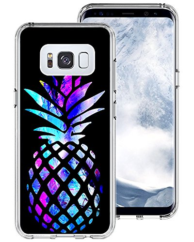 Galaxy S8 Case Pineapple,Gifun [Anti-Slide] and [Drop Protection] Soft TPU Protective Case Cover for Samsung Galaxy S8 5.8 inch (2017) - Brightly Colored Marble Pineapple
