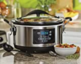 Hamilton Beach (33967A) Slow Cooker With Temperature Probe, 6 Quart, Programmable, Stainless Steel