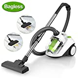 AGM Cylinder Vacuum Cleaner, Bagless Vacuum Cleaner (Powerful Suction, 800W, 4 Stage Filtration System.) Allergy Safe, 2.0L [Energy Class A]-White