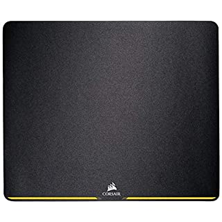 Corsair MM200 - Cloth Mouse Pad - High-Performance Mouse Pad Optimized for Gaming Sensors - Designed for Maximum Control - Medium, Black- Yellow Stripe, Model:CH-9000099-WW