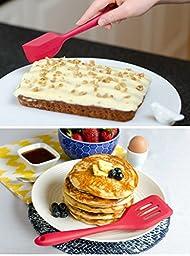 StarPack Premium Silicone Baking Mat and Baking Kitchen Utensils Set (7 Piece), Bonus 101 Cooking Tips