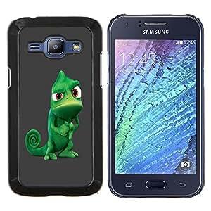 LECELL--Funda protectora / Cubierta / Piel For Samsung Galaxy J1 J100 -- Camaleón Tough divertido --