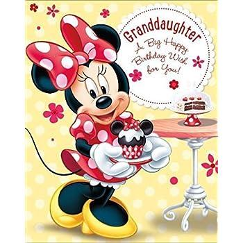 Amazon Disney Minnie Mouse Granddaughter A Big Happy Birthday