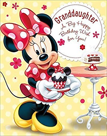 Amazon Com Disney Minnie Mouse Granddaughter A Big Happy Happy Birthday Wishes For A Granddaughter