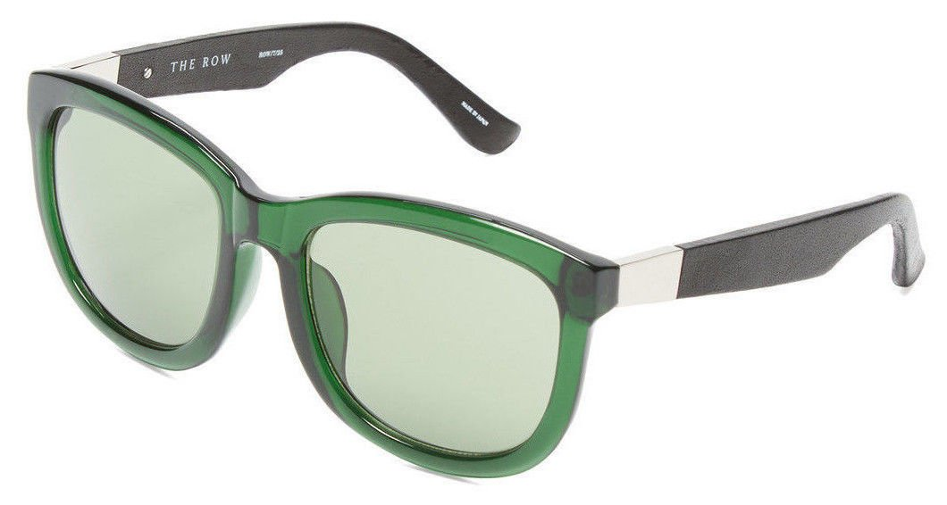 The Row x Linda Farrow 7 C25 D-Frame Handcrafted Acetate & Leather ...